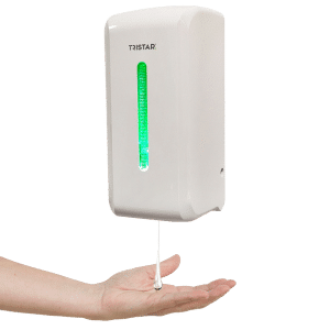 No touch dispenser voor handgel of vloeibare zeep